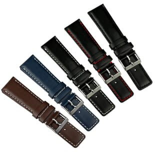 Square Tip Genuine Leather Watch Strap - Shorter Length