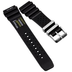 ZULUDIVER 286 Italian Rubber Waterproof Watch Strap