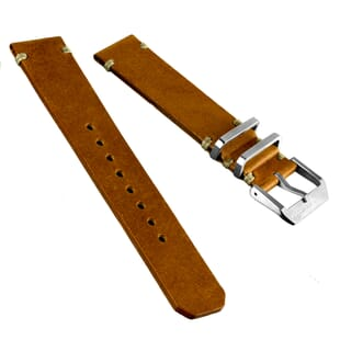 ZULUDIVER Desert Patrol Horween Leather Watch Strap