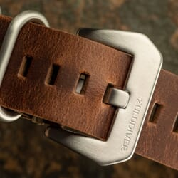 ZULUDIVER 2 Piece Genuine Leather ZULU Watch Strap